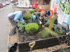 Nisa - planting the garden